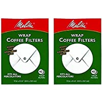 Melitta White Wrap Around Coffee Filter for Percolator (Pack of 2)