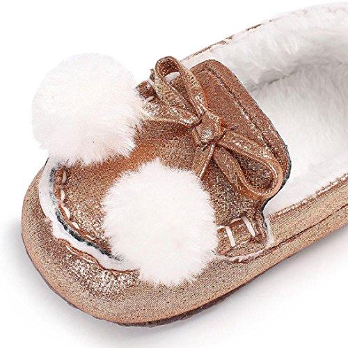 Igemy Schuhe Neugeborene Baby Mädchen Jungen Weiche Warming Sole Infant Kleinkind Rose Gold