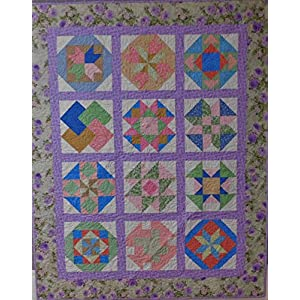 Image of Sampler quilt, Quilt, Throw Quilt, Lap quilt. Home and Kitchen