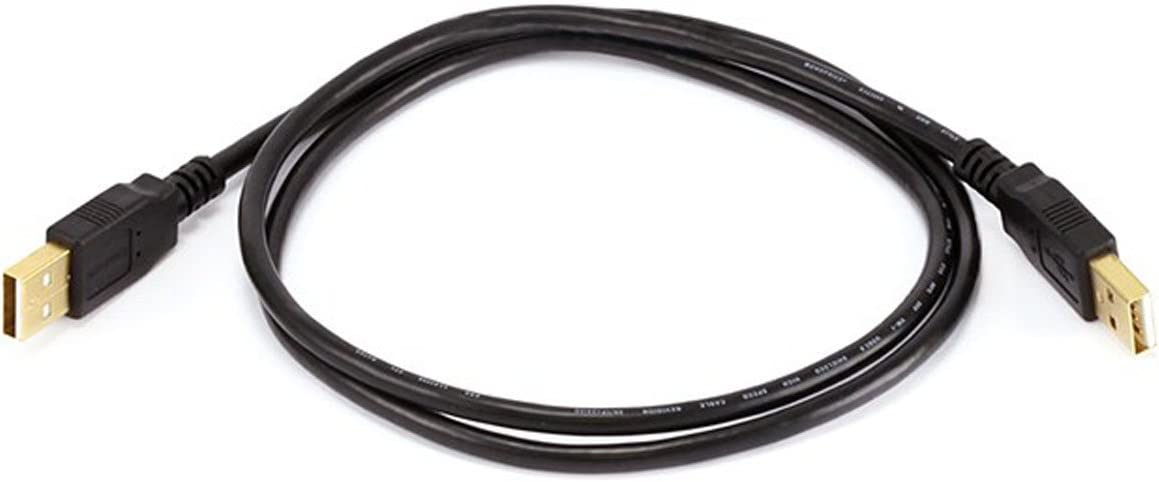 Monoprice 1054423ft USB 2.0 A Male to A Male 28/24AWG Cable (Gold Plated) -Black for Data Transfer Hard Drive Enclosures, Printers, Modems, Cameras and More!