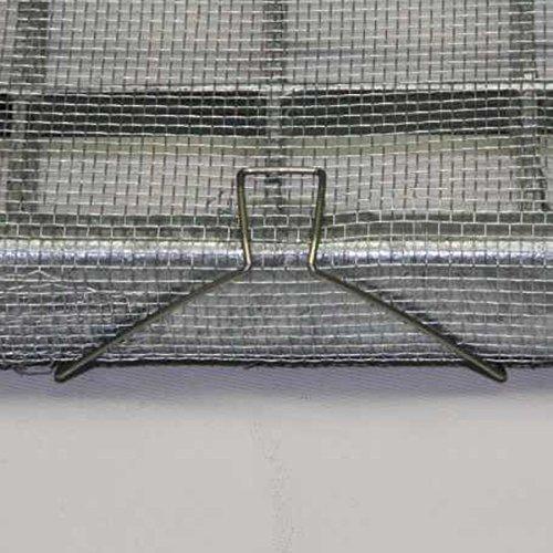 Powerpreise24 3X Lichtschachtabdeckung 120 x 60 cm individuell zuschneidbar Aluminium Gitter Kellerschacht Schutzgitter rostfreies und pflegeleichtes Aluminiumgewebe