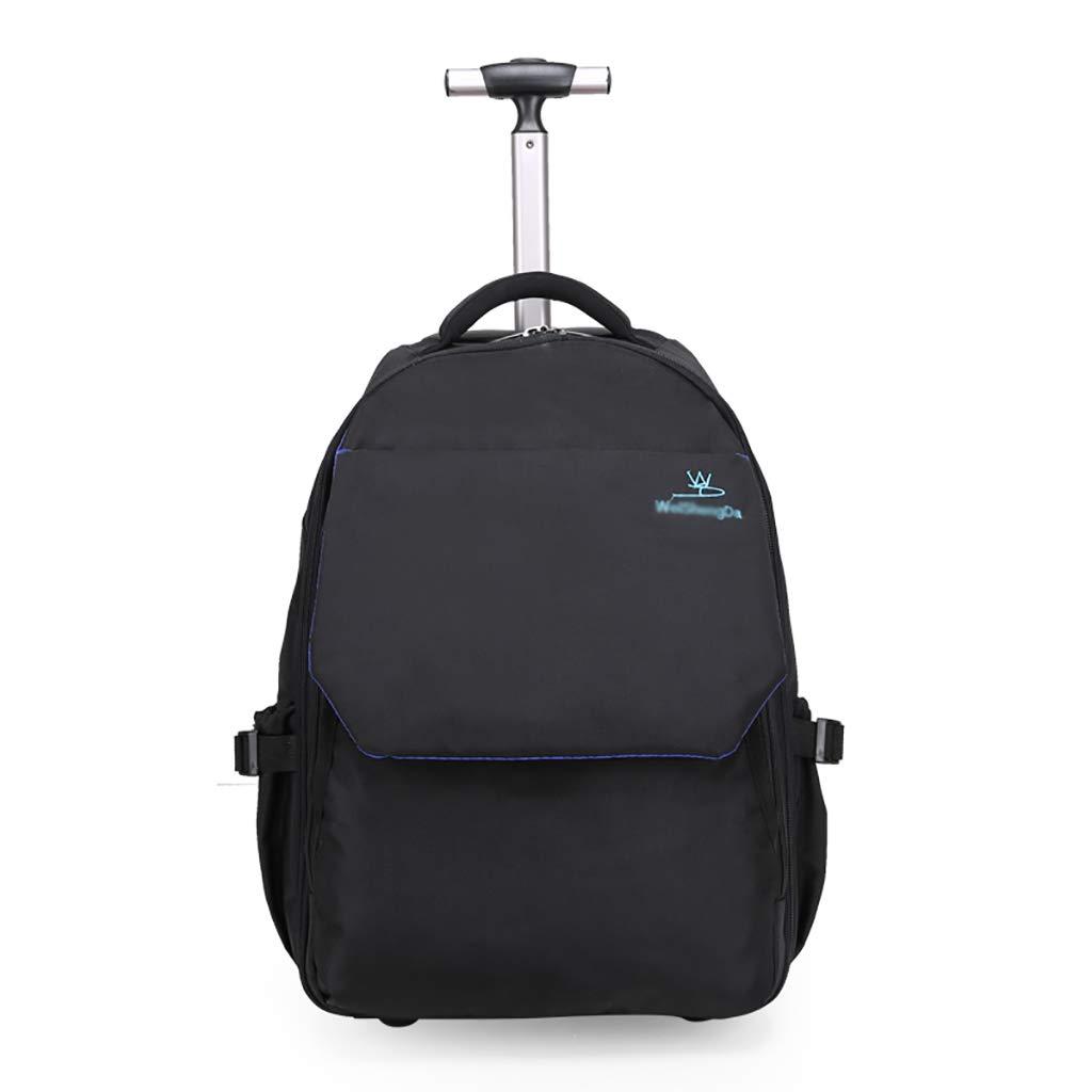 学校のラップトップバッグを旅する少年のためのトロリーバックパック大容量ストレージウィールドローリングバックパック防水旅の荷物 big  B07NMMM23H