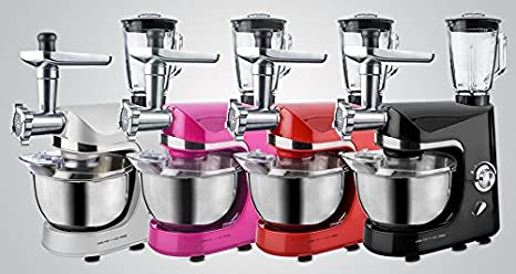 Robot de cocina batidora máquina de picar carne para mezclar dispositivo 1800 W negro: Amazon.es: Hogar