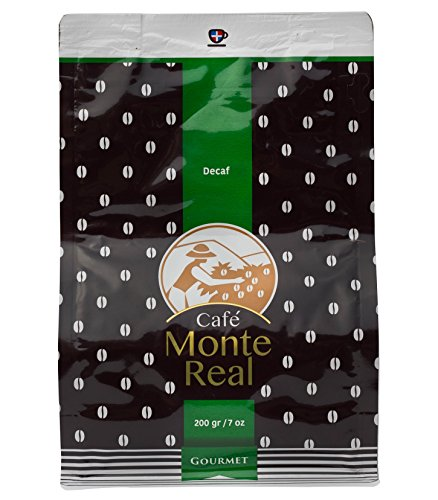 Monte Real Gourmet Arabica Decaf Coffee - Dominican Premium Ground Roasted w/delicious Dominican Cacao Flavor, 200 gr by Monte Real
