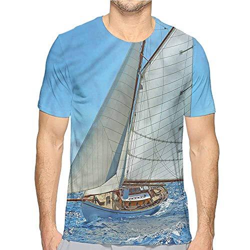 t Shirt for Men Nautical,Sailboat Regatta Race Custom t Shirt S