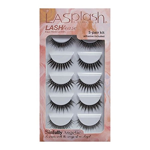 LASHtease Sinfully Angelic Synthetic Mink Faux Lashes 5-Pair Kit
