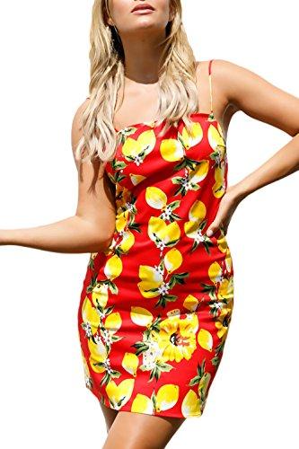 Vestiti Hop Corto Maniche Estivi Dresses Ragazza Fit Boho Rosso Spalline  Hip Eleganti Moda Vintage Abito Pattern Senza Donna Vestito Stampato ... 1d5ab9034e3