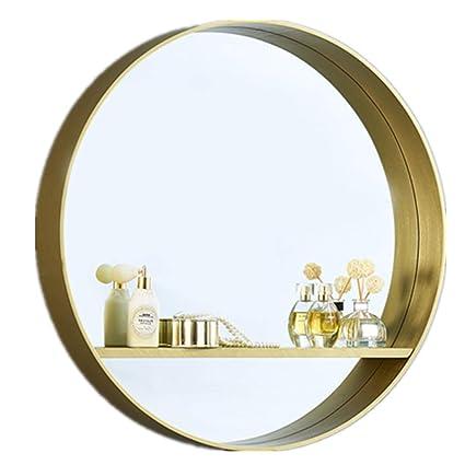 JJHOME-Miroirs Miroir Mural pour Salle de Bain avec Tablette ...