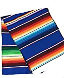 Mexitems Mexican Serape Table Runner 84'x14' (Royal Blue)