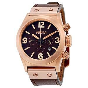 Amazon.com: Brera Orologi Eterno Piccolo Chronograph Brown