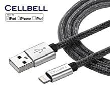 CELLBELL Apple Certified Lightning to USB Cable-6 Feet (2 Meters)-Black