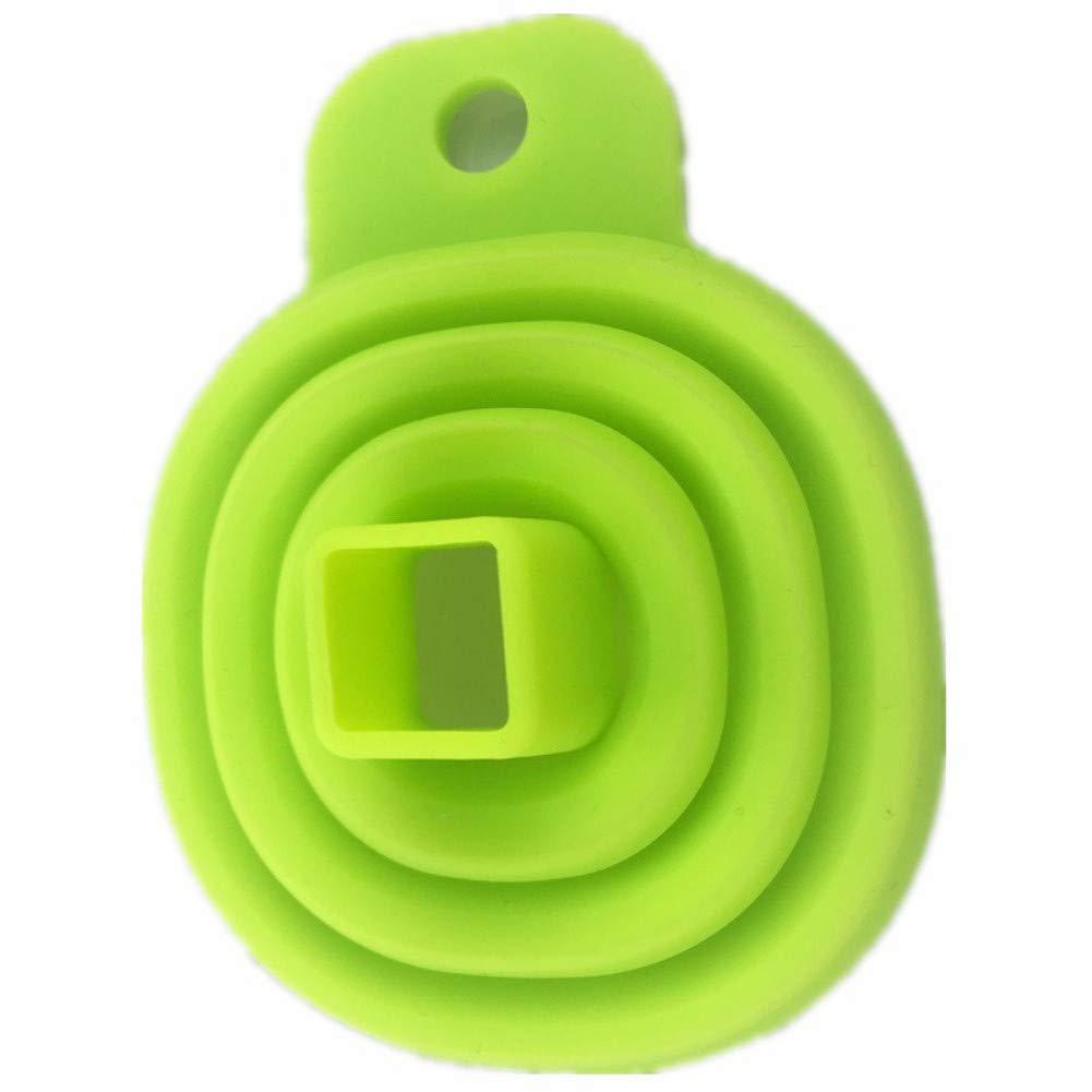 Vert WESEEDOO Entonnoir Silicone Ajustable Pliant Entonnoir Retractable
