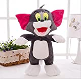Tom and Jerry Soft Toy Gift For Kids (Boys, Girls and Baby) Real Looking Miniature Figures For Birthday (Return) Gift Grey Color 20 CM