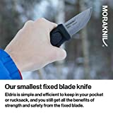 Morakniv Eldris Fixed-Blade Pocket-Sized Knife with Sandvik Stainless Steel Blade and Plastic Sheath, Red, 2.2 Inch
