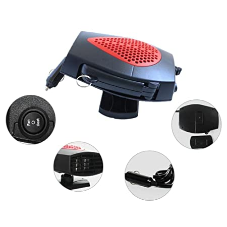 Amazon.com: never-z Car Heater and Defroster DC 12V Portable Car Heater Warmer Snow Defogger Defroste: Home & Kitchen