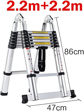 LADDER una Escalera Escalera de Dos Heces Taburete de Bar Multifunción Tramo Aluminio Bilateral Escalera Escaleras Trabajos Multifunción B: Amazon.es: Bricolaje y herramientas