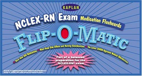 NCLEX-RN Exam Medication Flashcards Flip-O-Matic