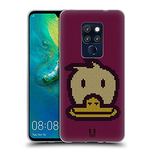Head Case Designs Duck Cross Stitched Soft Gel Case for Huawei Mate 20