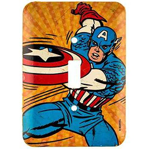 Marvel Comics Vintage Captain America Wall Light Switch Cove