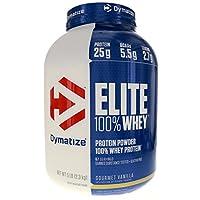 Polvo de proteína de suero de leche Dymatize Nutrition Elite, vainilla gourmet, 5 libras