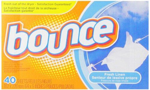 Bounce Fresh Linen Sheets, 40 Count