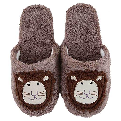 Pantofole Da Casa Peluche Di Bestfur Womens Cute Cosy Marrone