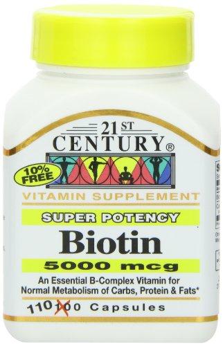 21-го века Биотин 5000 Mcg капсулы, 110-Граф