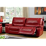 red furniture living room. Furniture of America Dunham 2 Recliner Sofa  Red Amazon com Sofas Couches Living Room Home