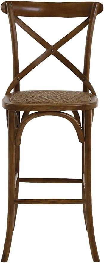 Chaise de et rotin bistrot Bois Inwood d'orme Bar WED9IHY2e