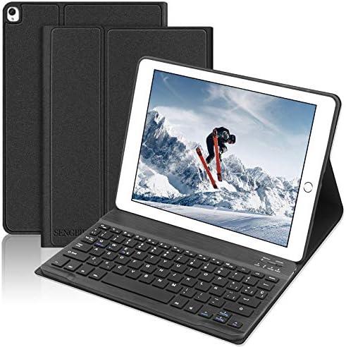 SENGBIRCH Teclado Funda para iPad 10.2 2019(7ª Generación), Teclado Español Bluetooth para iPad 10.2 /iPad Air 3 10.5 /iPad Pro 10.5, con Slim ...