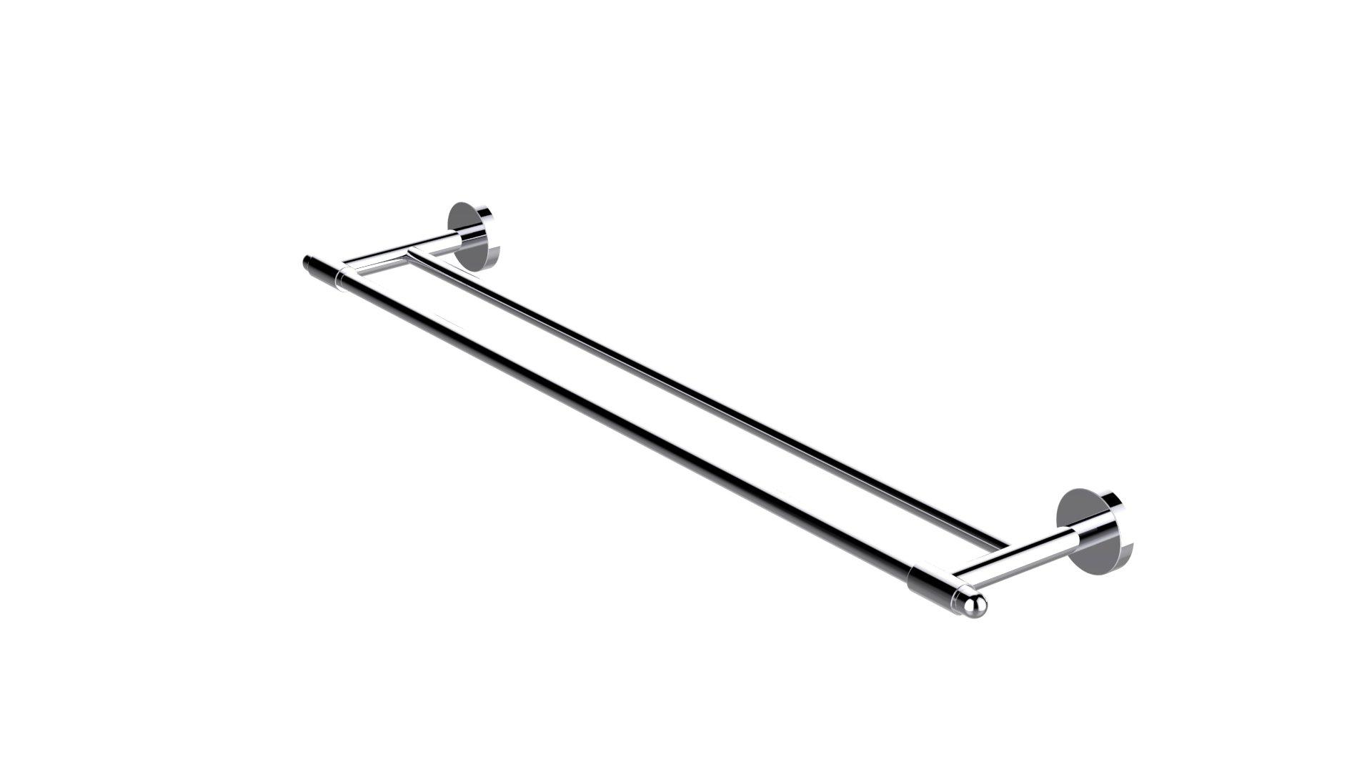 Eviva EVAC022BN Bullet Double Towel Bar Round Design Bathroom Accessories Combination, Brushed Nickel