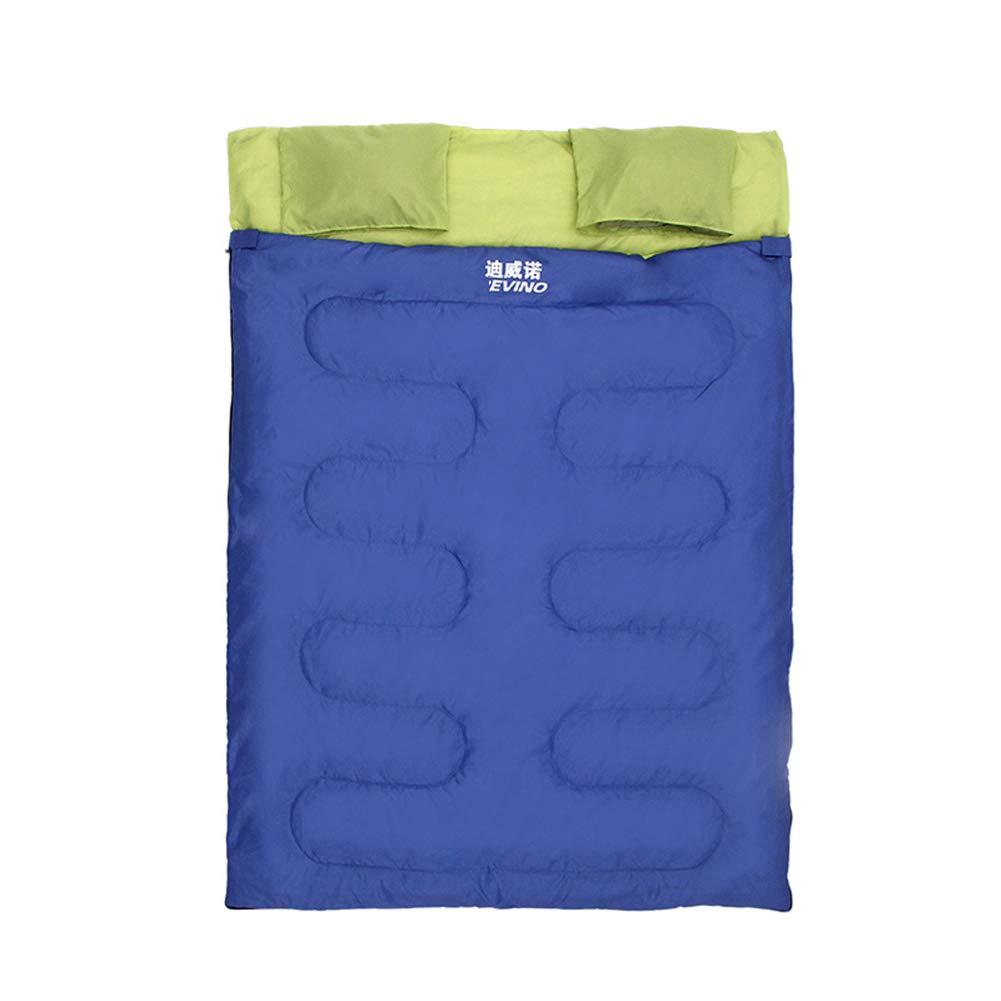 ダブルスリーピングバッグ、封筒ポータブルスリープバッグ快適な通気性暖かい睡眠袋大人のためのキャンプハイキングアウトドアアクティビティ   B07N2SYDBQ