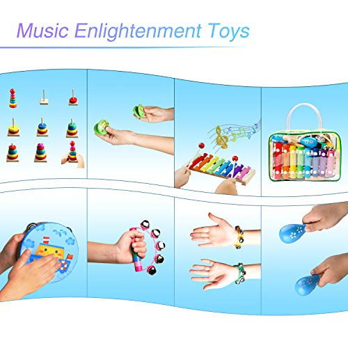 Childom Kids Musical Instruments Musical Instruments Wood Xylophone for Kids Children, Child Wooden Music Shakers…