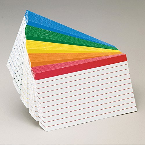 Color Coded Bar Ruling Index Card by Esselte (Esselte Color Coded Bar)