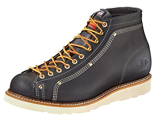 (Thorogood Men's Lace to Toe Roofer Black Work Boots 6 (2E))