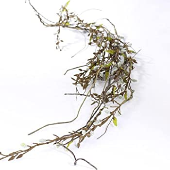 Wired Ample, Realistic Pussy Willow Garland for Home Decor Interior Design and Decorating