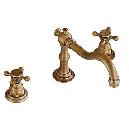 Amazoncom Vintage Two Handle Widespread Bathroom Sink Faucet