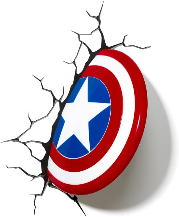 Marvel Avengers Captain America 3D Light: Amazon.es: Iluminación