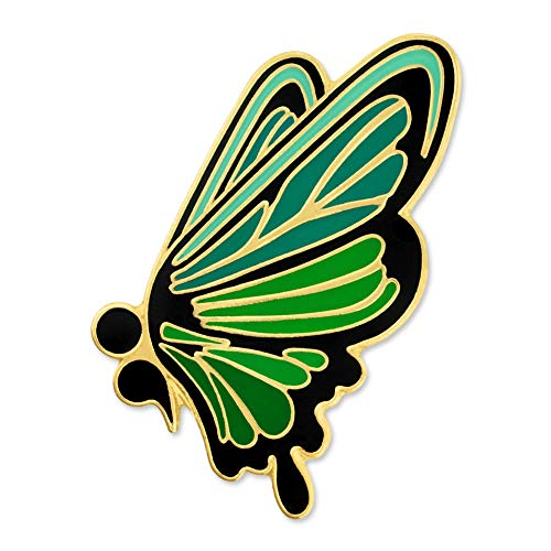 PinMart Green Semicolon Butterfly Mental Health Suicide Prevention Lapel Pin