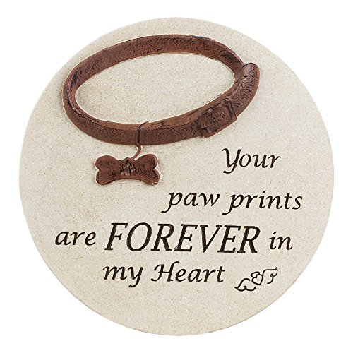 "Napco 12"" ""Forever In My Heart"" Dog Cement Memorial Garde..."