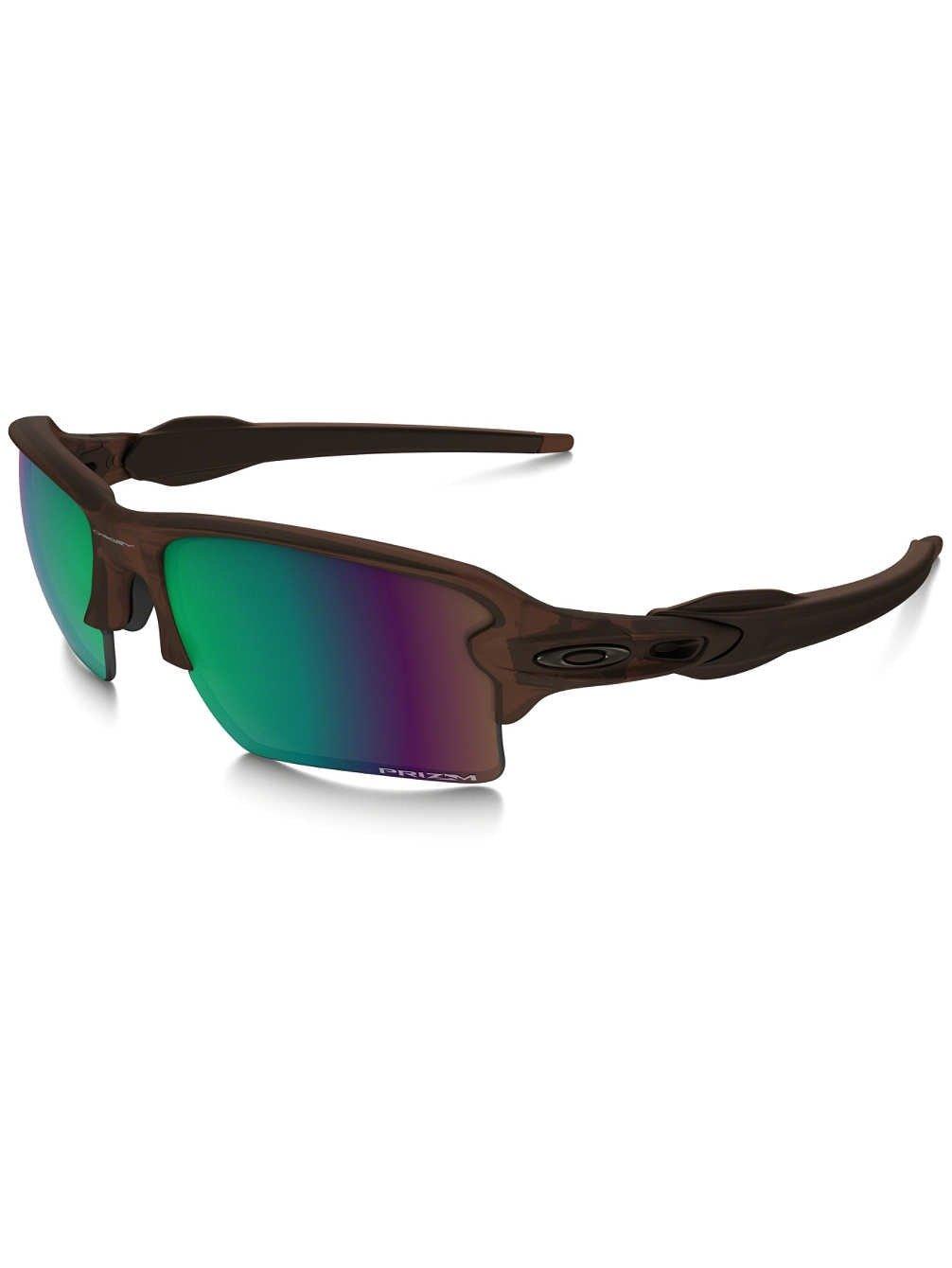 Oakley Men's Flak 2.0 XL Polarized Iridium Rectangular Sunglasses, Matte Rootbeer, 59 mm
