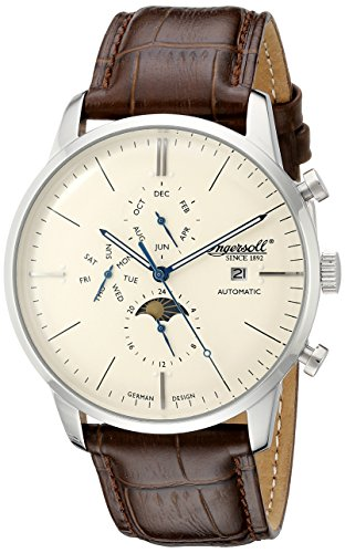 Ingersoll Men's IN1916SCR Aurora Analog Display Automatic Self Wind Brown Watch