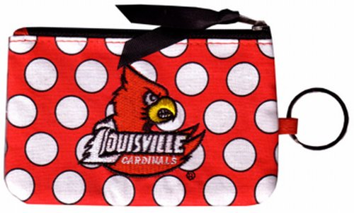 - NCAA Louisville Cardinals Keychain Coin Purse Divided