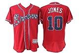 Men's Short Sleeved No.10 Atlanta Baseball Jersey Red 2XL