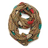 Toddler Girls Lightweight Soft Infinity Scarf Boys Kids Yellow Heart Pattern Loop Scarves for Women by A Sund (new-heart2)