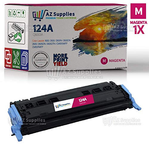 (AZ Supplies Re-Manufactured Toner Cartridge Replacement for HP 124A, Q6003A for use in HP Color LaserJet 1600,2600, 2600n, 2600dn, 2605, 2605dn, 2605dtn CM1015MFP CM1017mfp Series Printers (Magenta).)