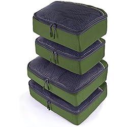 JETPAL Lightweight Travel Luggage Organizer Packing Cubes (Set of 4) - Green
