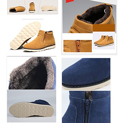 Gaorui Mens Winter High Top Warm Suede Shoe Ankle Boot Casual Slip On Flat Sneaker Black YYP1h