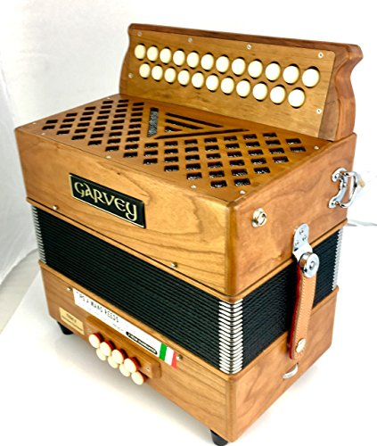 (Garvey TAM 2 21 Button Bass Accordion (Key of B/C) - Tipo A Mano Reeds - Includes Shoulder)