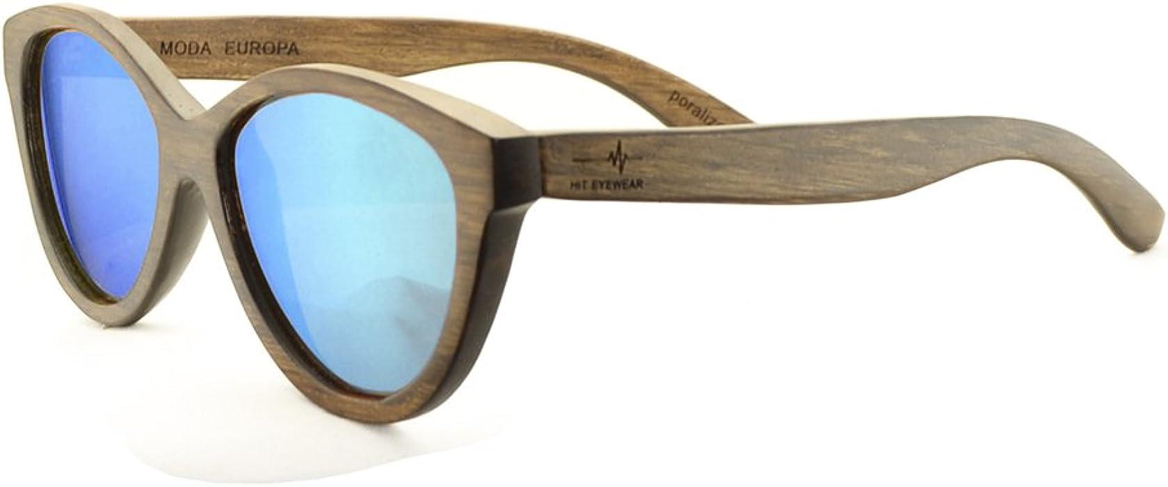 Gafas de Sol Modelo Ojo de Gato Polarizadas de Madera Color ...